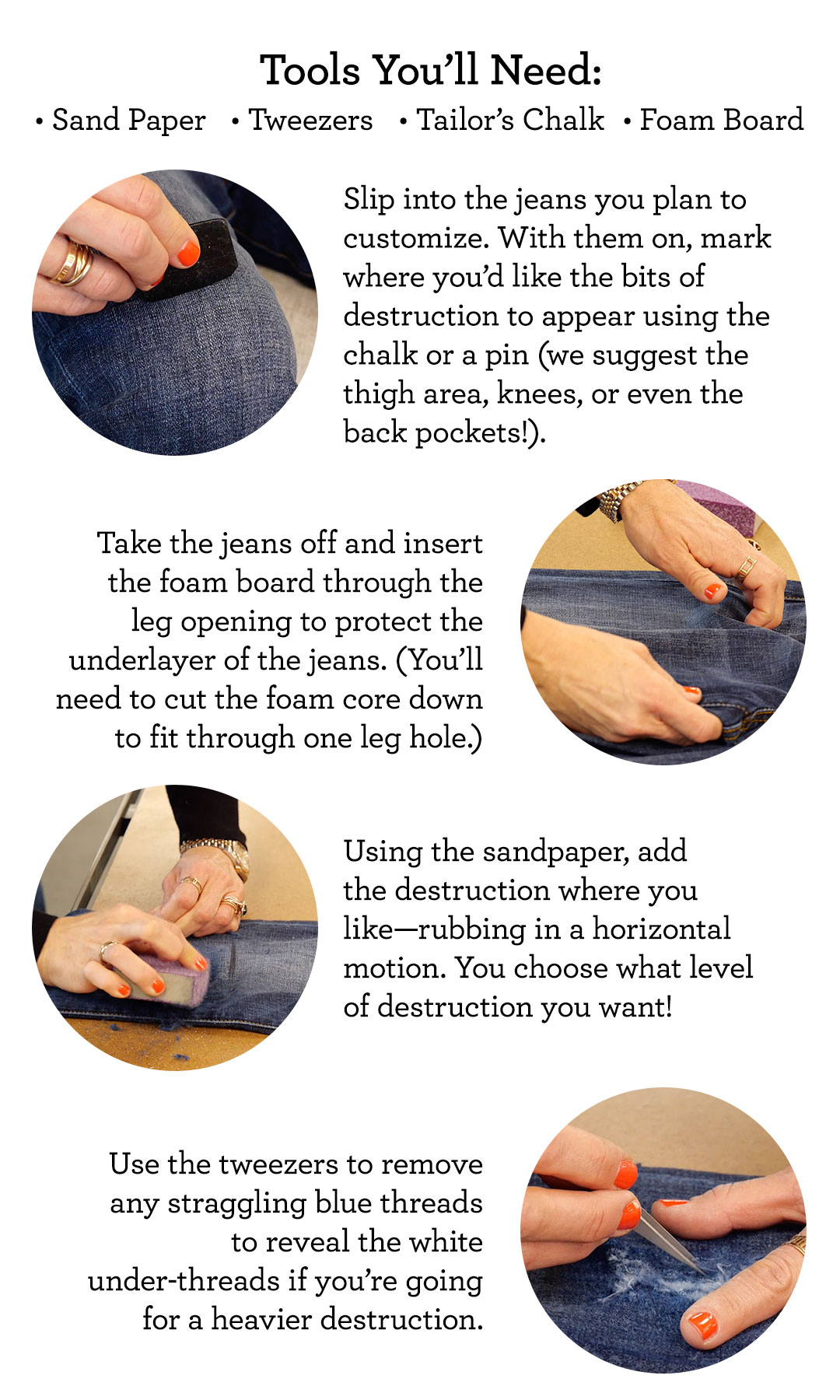 cabi Clothing | How to Distress Your Jeans
