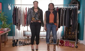 bff makeover: eboni and her sister style casual fall outfits