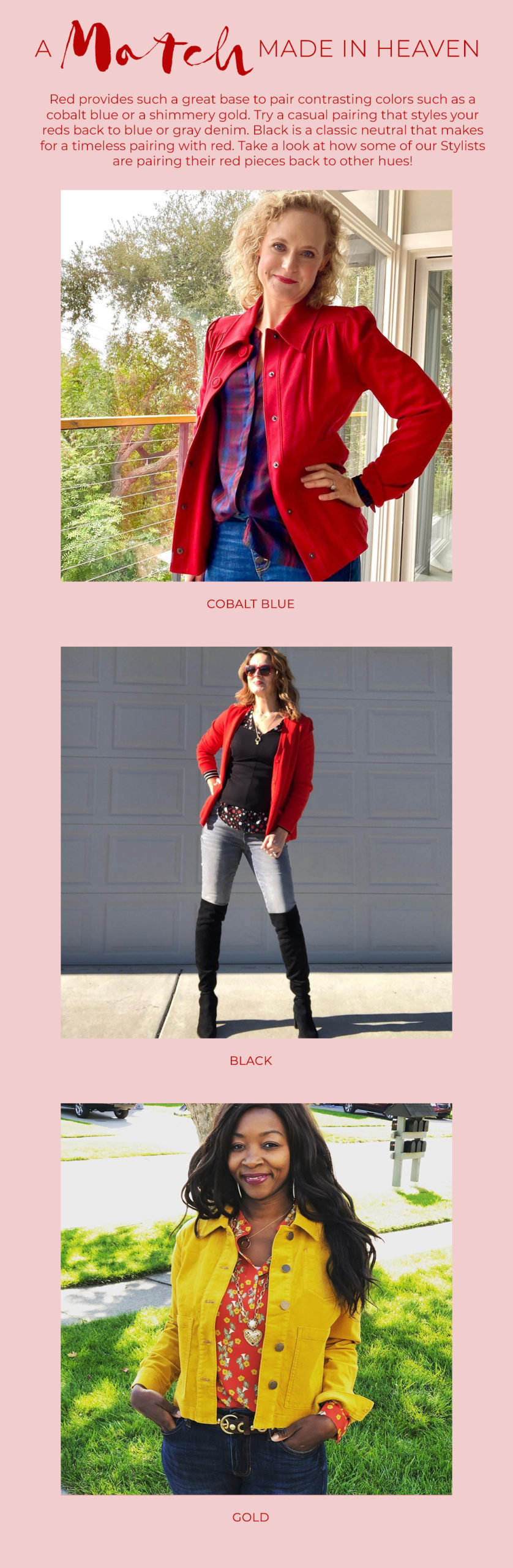 cabi Clothing | Fall 2020 | Red Color Guide