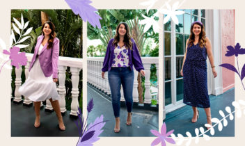 queen for a day in purple clothing